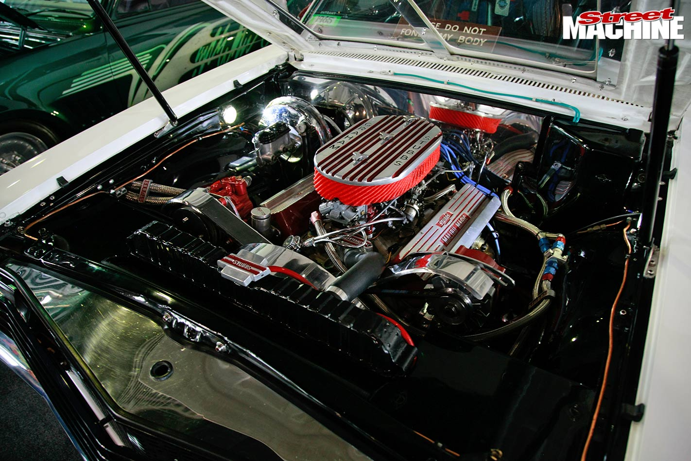 1965 Chev Nova engine bay