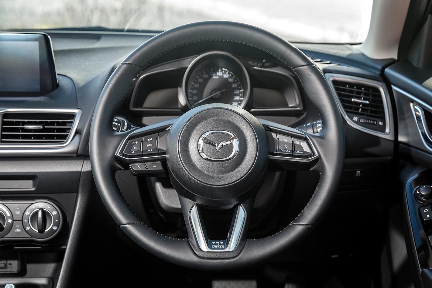 Hatchback Three Way Mazda 3 Interior Steering Wheel Jpg