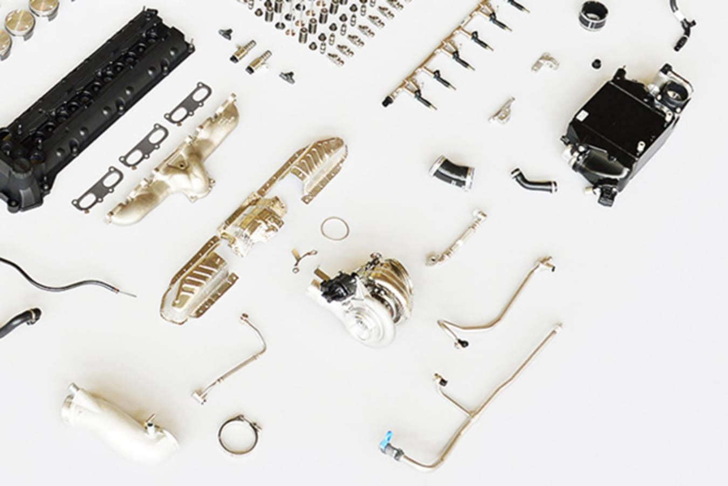 Aston Martin V12 engine turbocharger