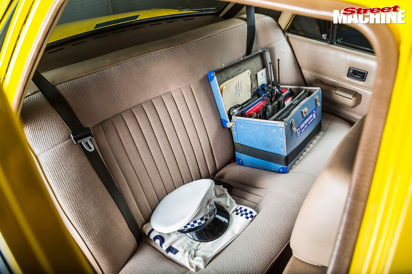 Holden VK Commodore cop car rear seats