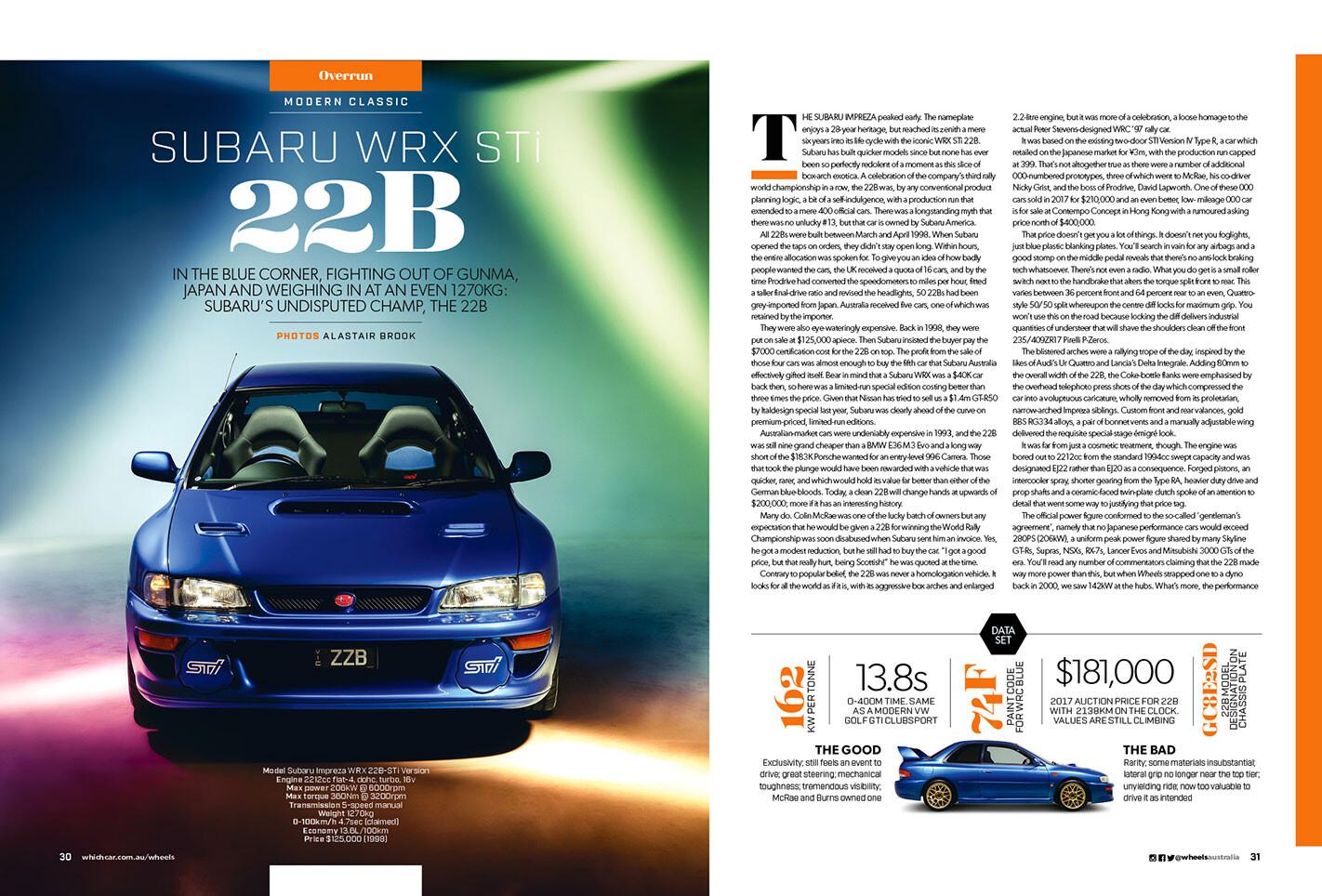 Subaru WRX STi 22B Modern Classic Mag Preview