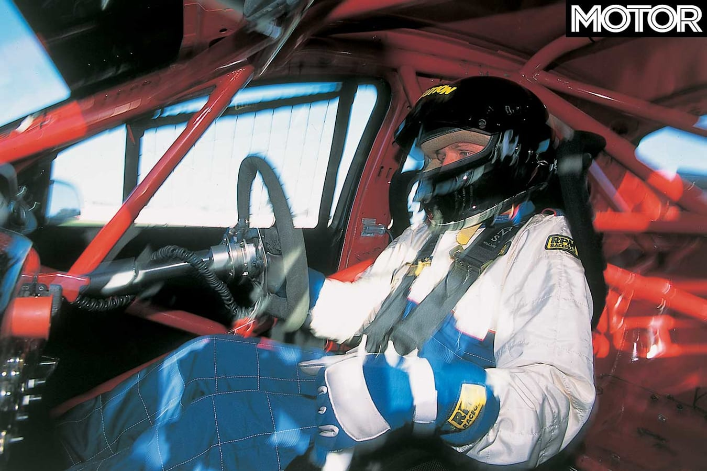 Driving Craig Lowndes 2002 Ford Falcon V 8 Supercar Cockpit Jpg