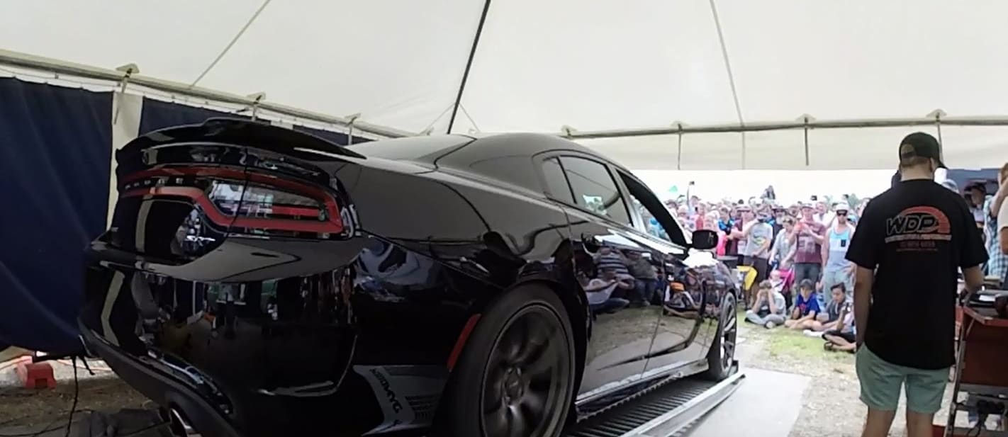 DODGE CHARGER HELLCAT ON THE DYNO AT COTM