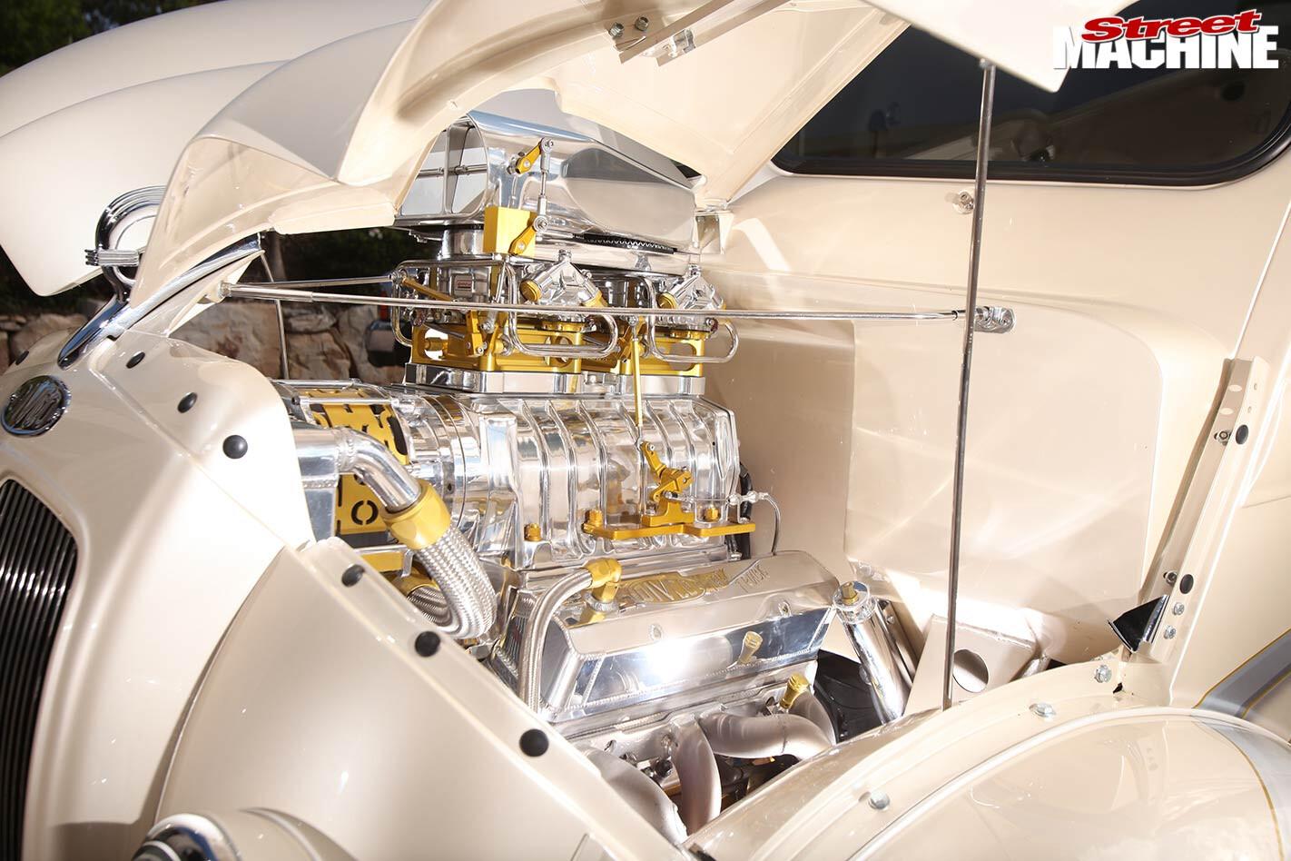 custom Divco van engine