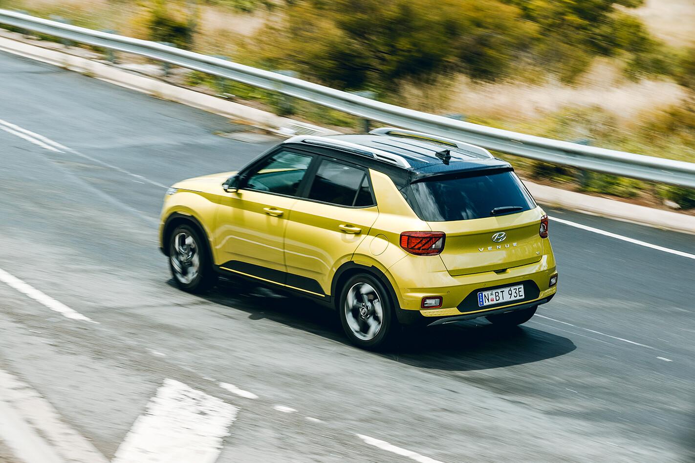 2020 Hyundai Venue driving