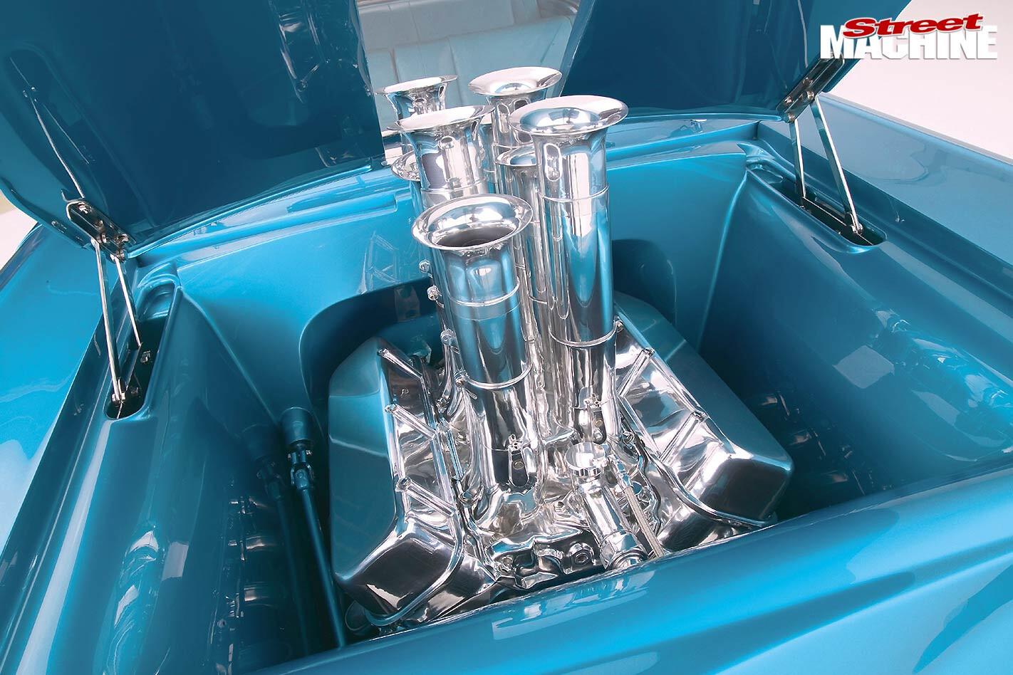 1957 Chev engine bay