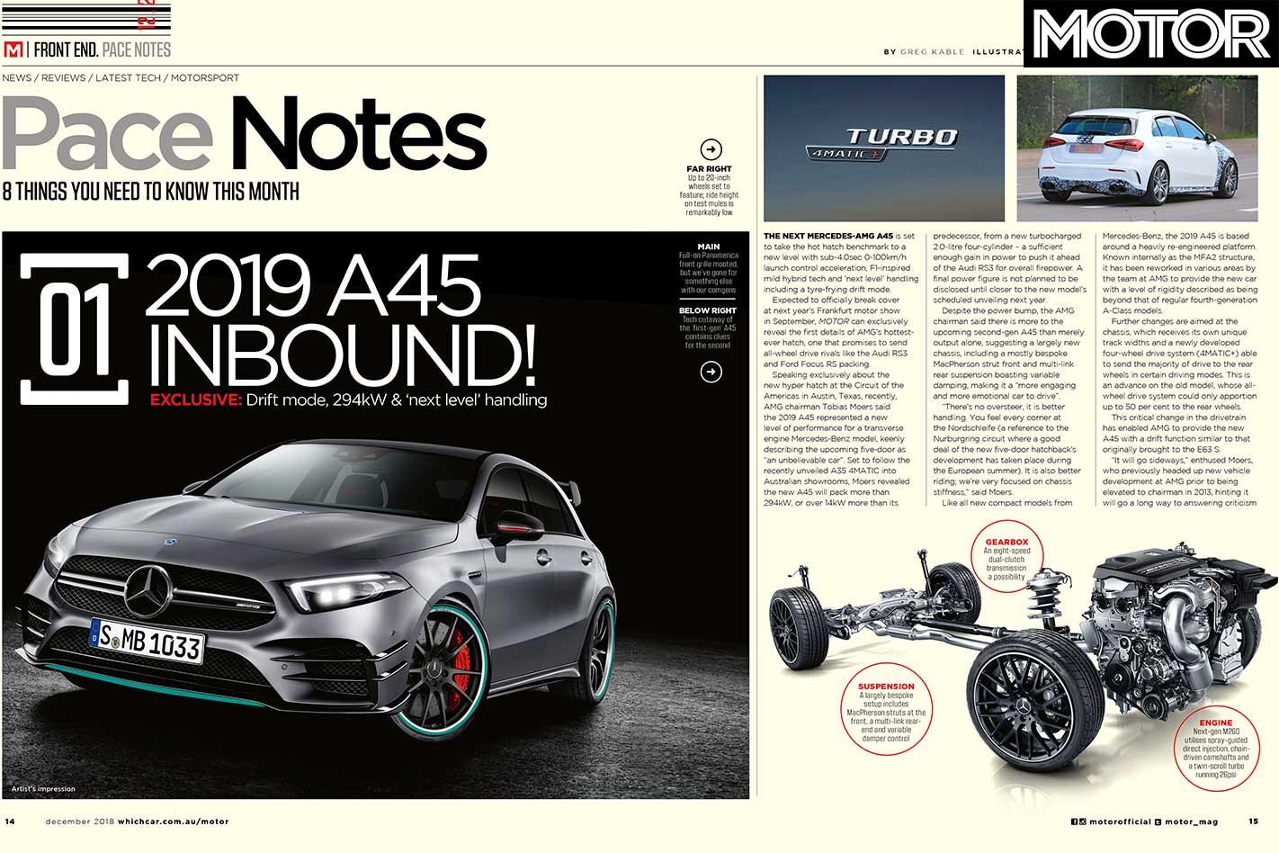 MOTOR Magazine December 2018 Preview AMG A 45 Jpg