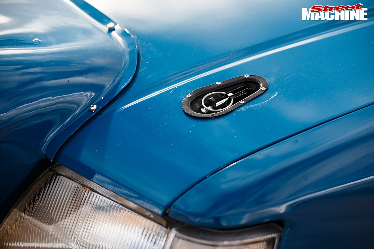 Holden VK Commodore rally car bonnet