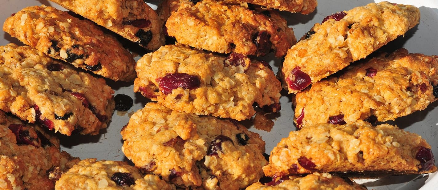 Recipe: Cranberry and oat biscuits