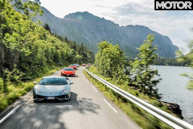 Lamborghini Huracan Evo Norway Road Drive Jpg
