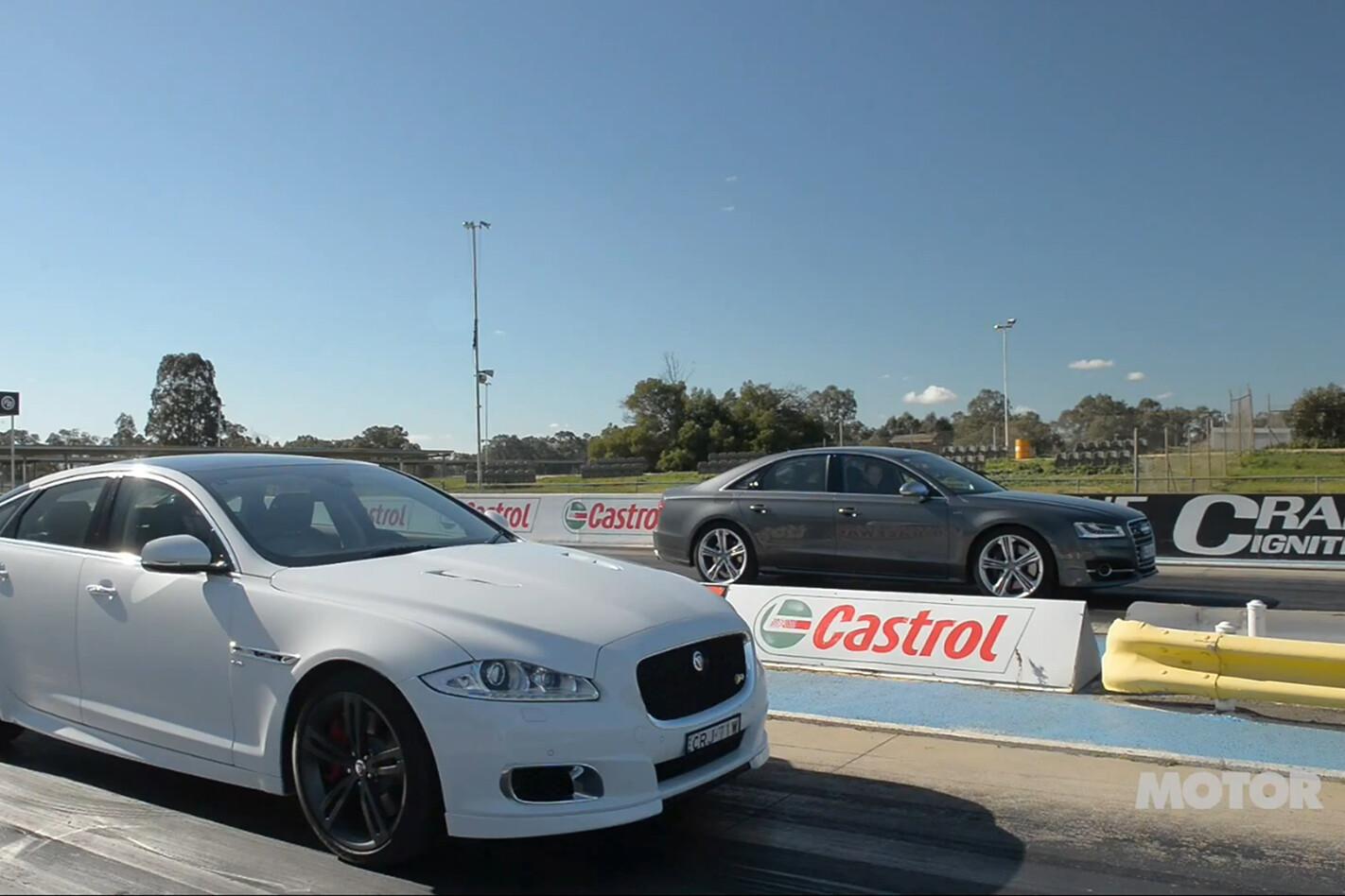 Audi S8 vs Jaguar XJR