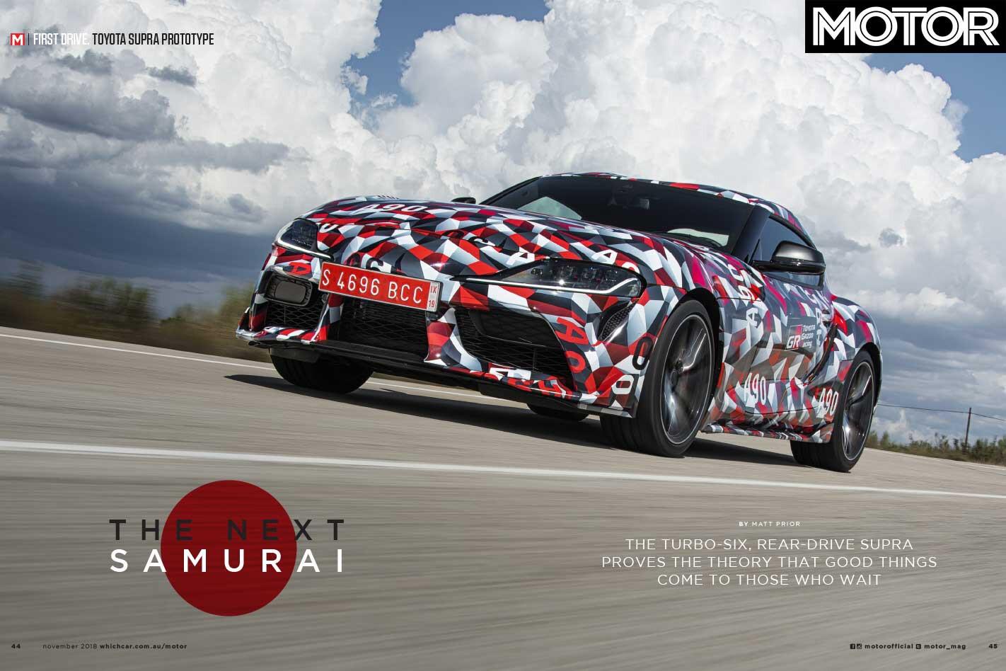 MOTOR Magazine November 2018 Toyota Supra Jpg