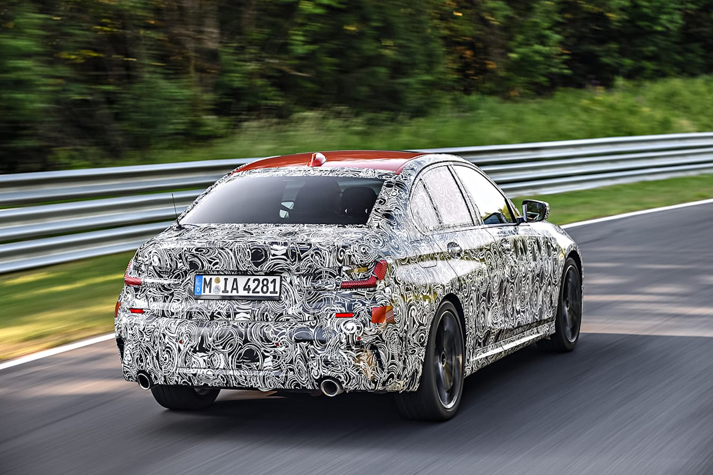 BMW 3 Series prototype rear