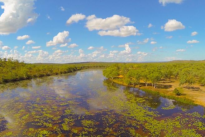 Ngukkur-and-The-Ruin-City,-Northern-Territory-billabong