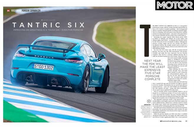 MOTOR August 2019 Issue Preview Porsche 718 Cayman GT 4 Feature Review Jpg