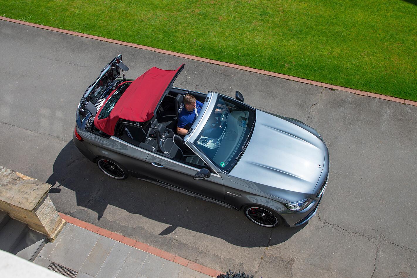 Mercedes Amg C 63 Cabriolet Roof Up Jpg