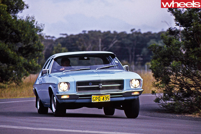 Holden -HQ-driving -front