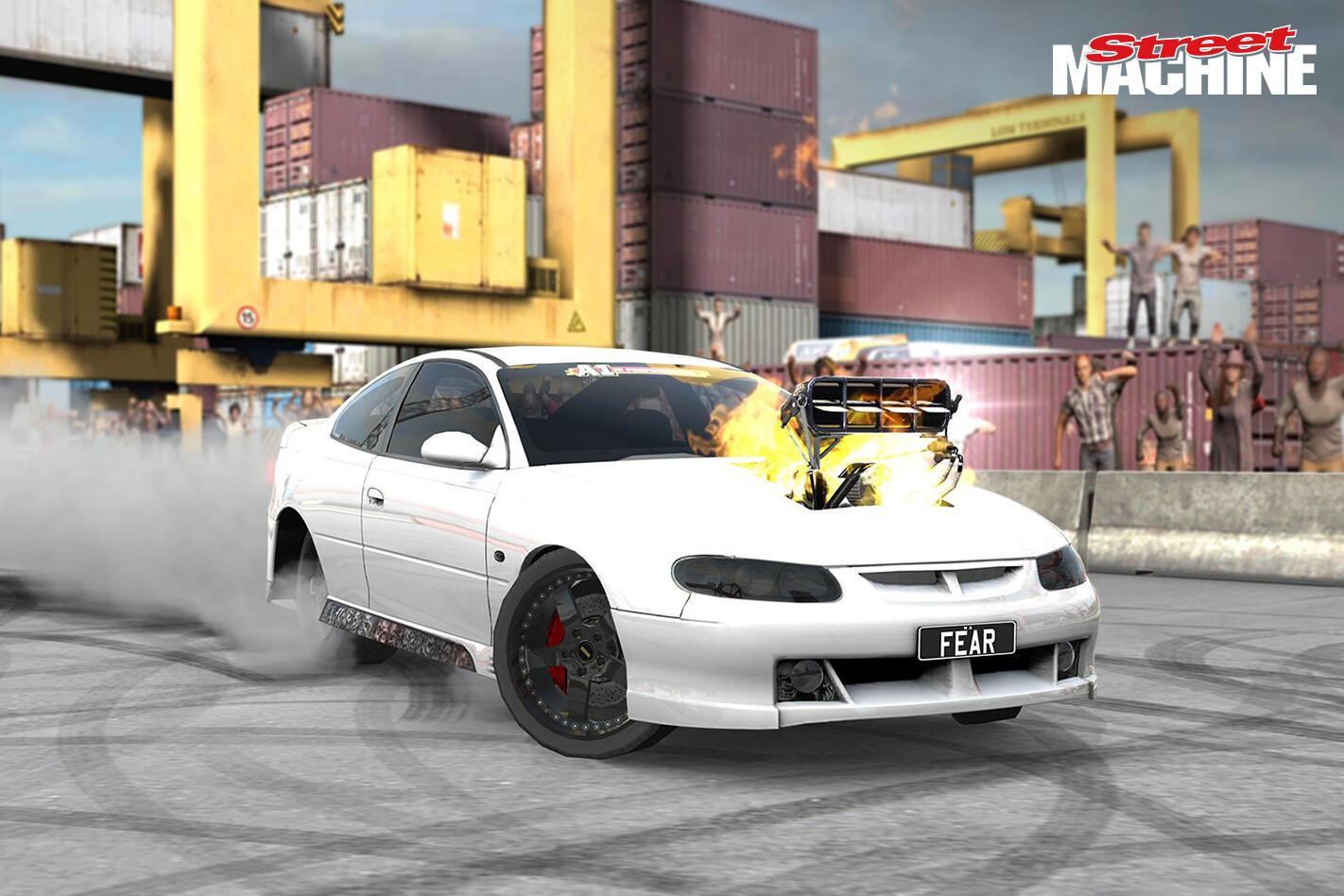 HSV GTO Coupe Burnout FEAR