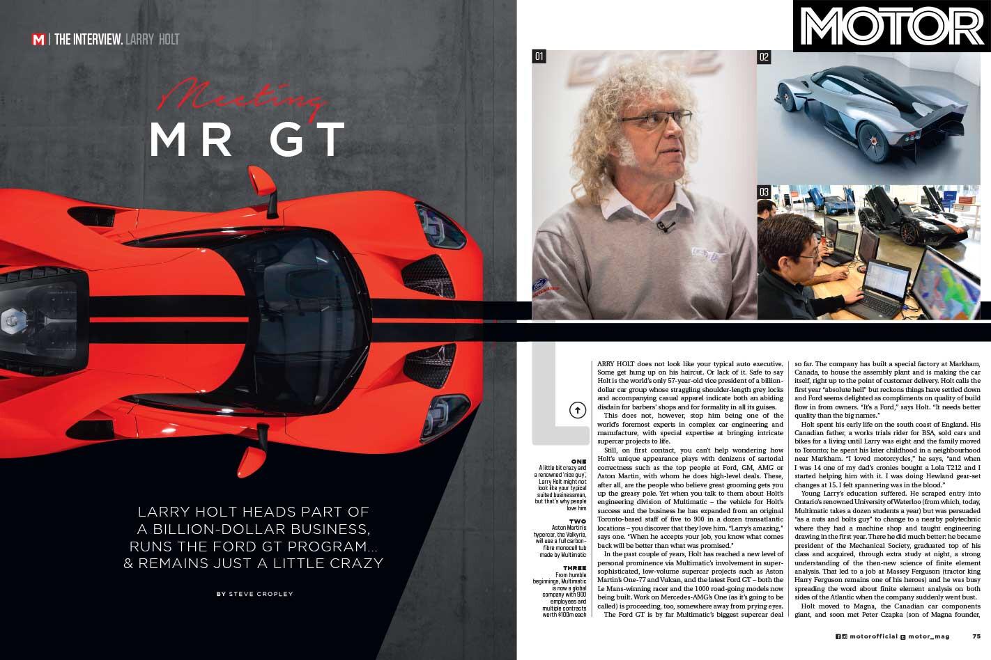 MOTOR Magazine November 2018 Ford GT Jpg