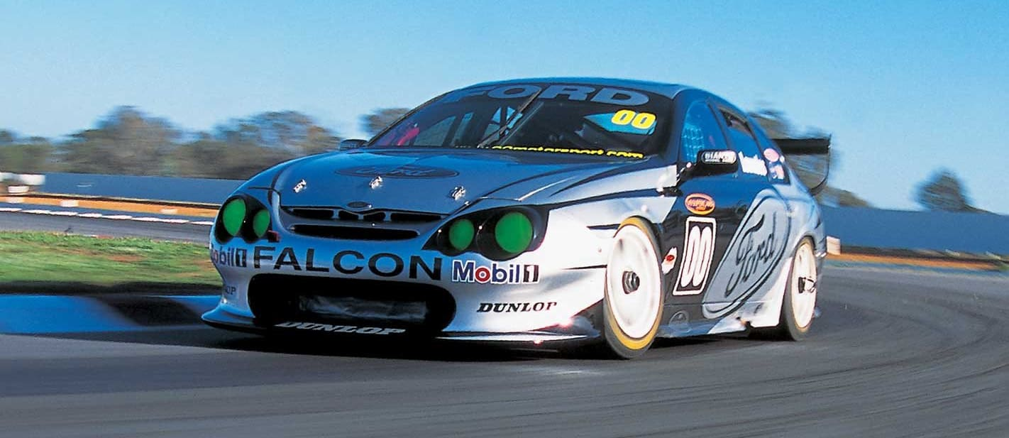 Driving Craig Lowndes 2002 Ford Falcon V8 Supercar classic MOTOR