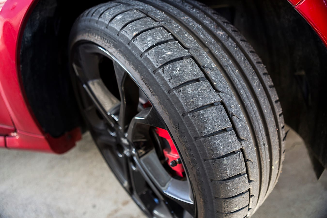 Renault Clio RS track day tyre