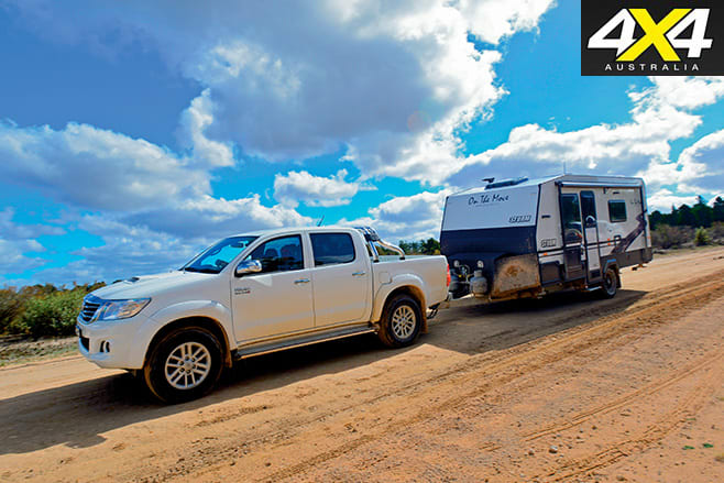 Hilux and trailer