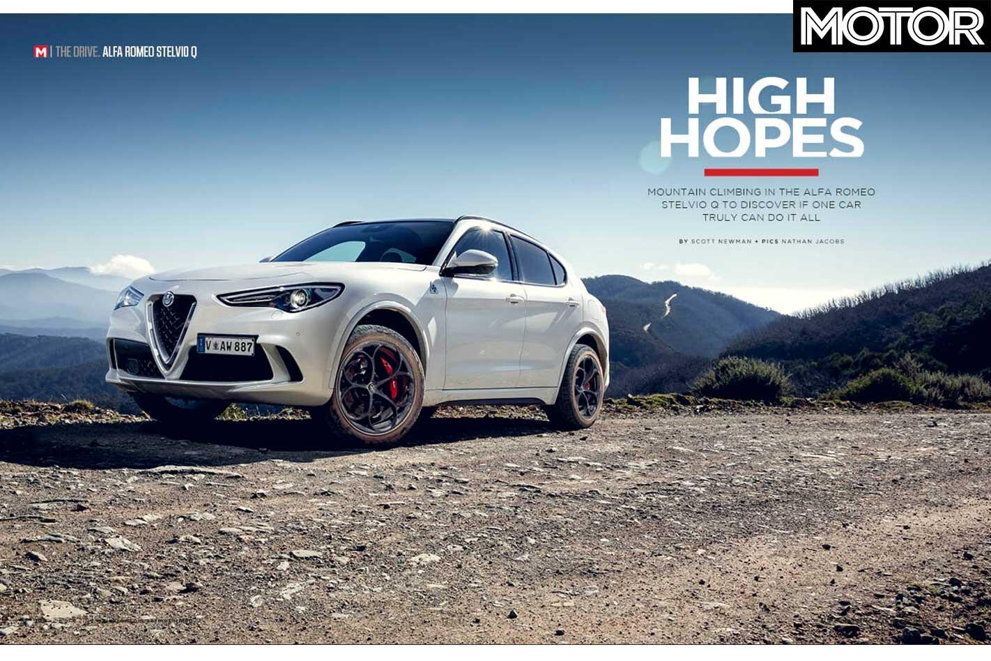 MOTOR Magazine July 2019 Issue Alfa Romeo Stelvio Q Review Jpg