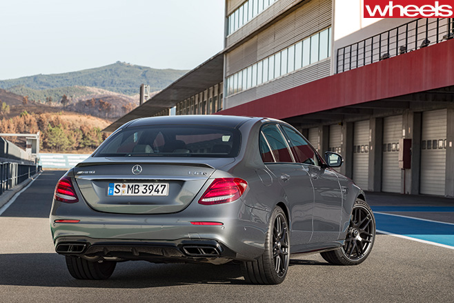 Mercedes -AMG-E63-driving -rear -side -track