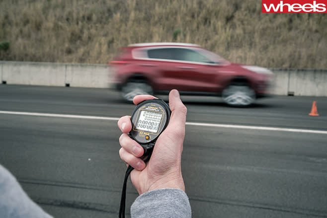 Timing -car -on -track