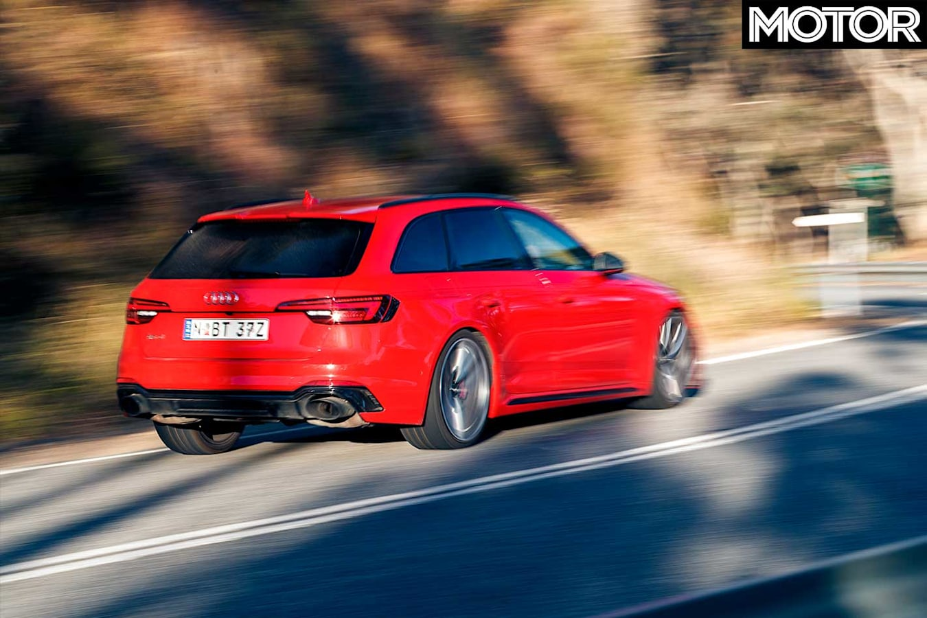 Performance Car Of The Year 2019 6th Place Audi RS 4 Avant Road Test Rear Jpg