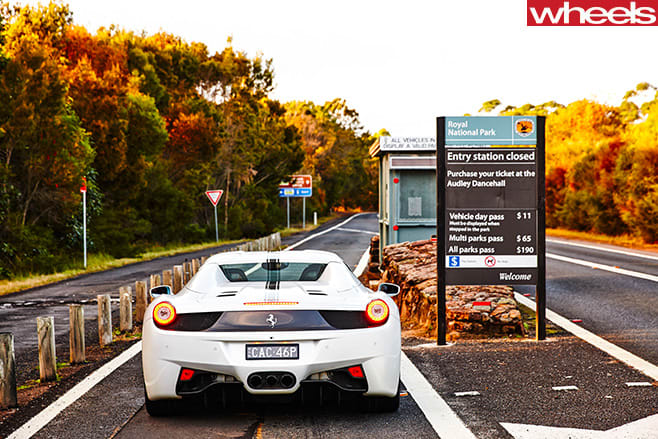 Ferrari -458-convertible -driving -highway