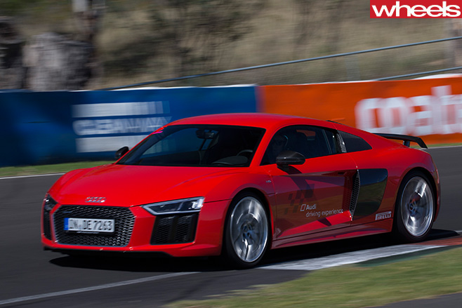 Audi -R8-driving -front -side -driving-