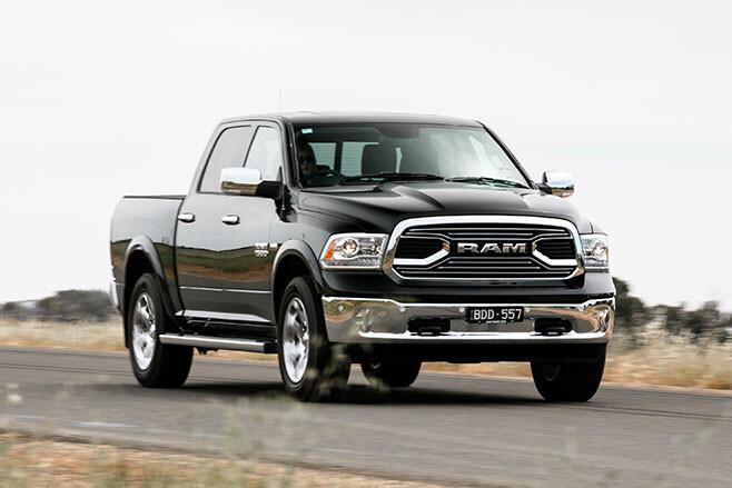 Ram 1500 Laramie fast road