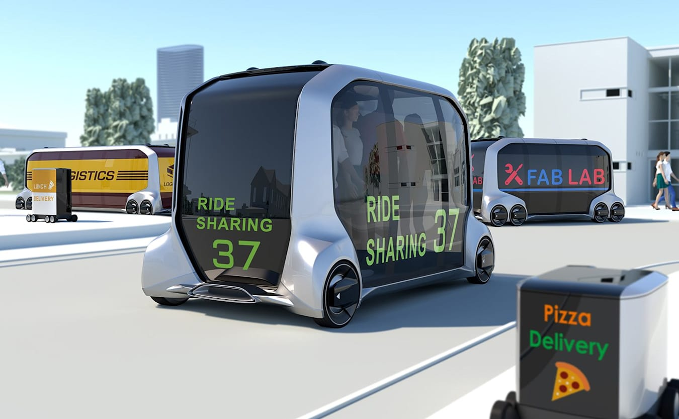 driverless Uber or taxi