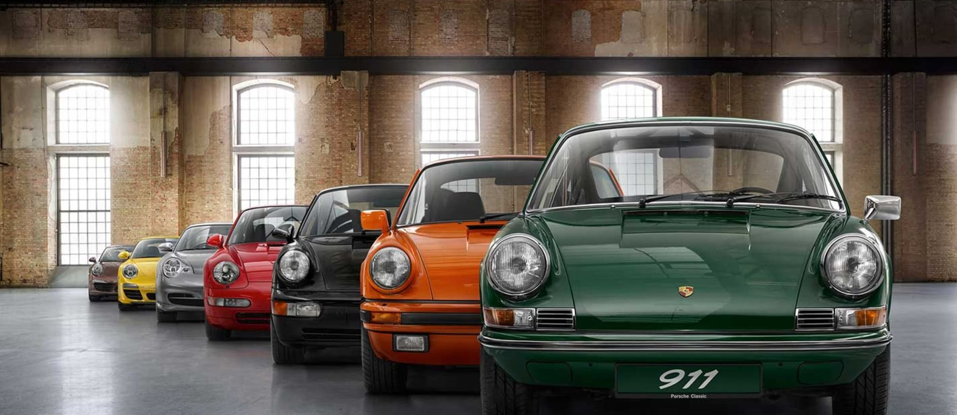 Seven generations of the Porsche 911 in pictures