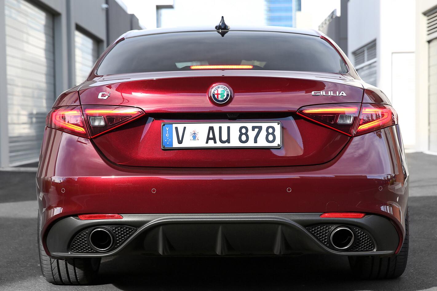 2017 Alfa Romeo Giulia Veloce rear