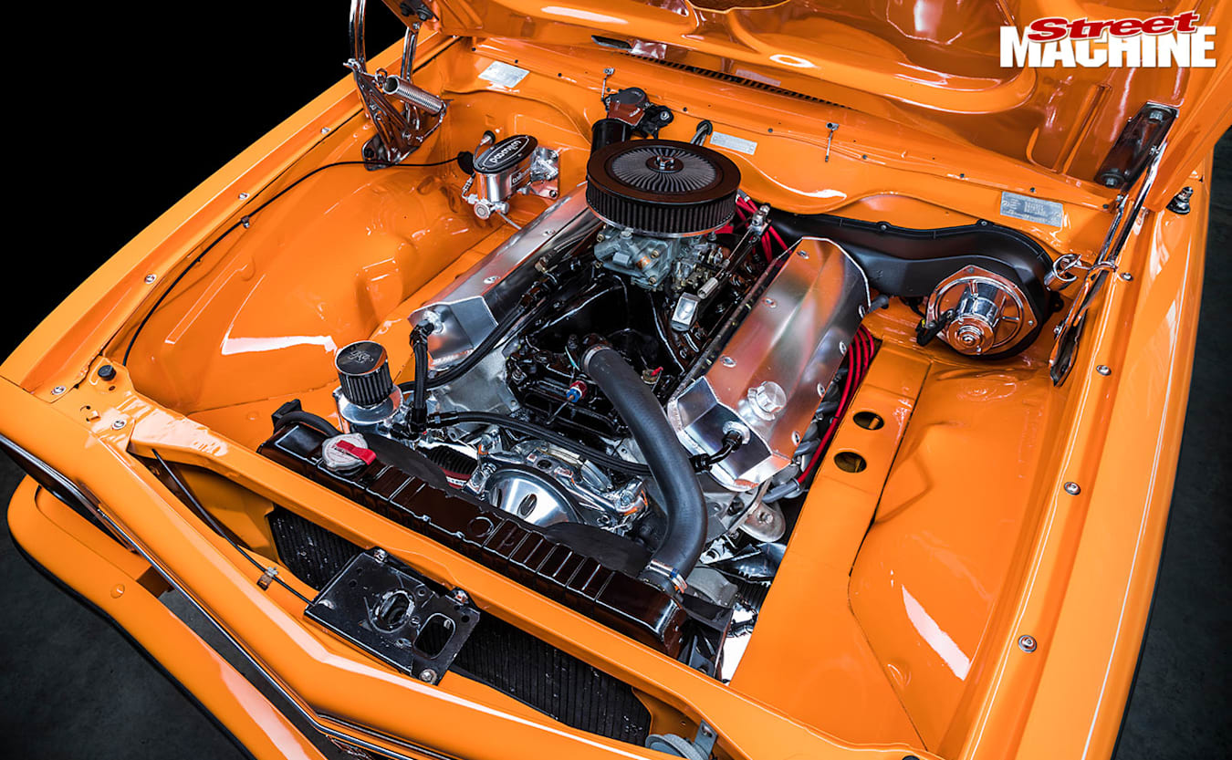 Holden LX Torana hatch engine bay