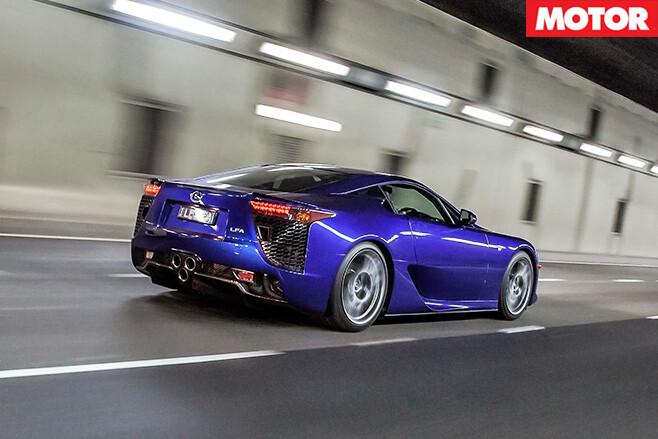 Lexus lfa driving rear