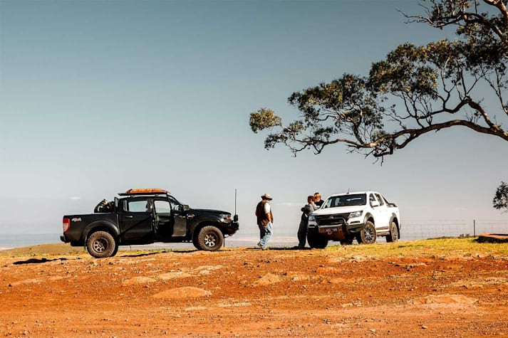 Stretching our legs on a Flinders Ranges trip