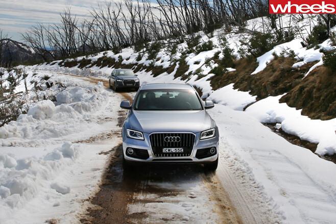 Audi Q7 in the snow Australia