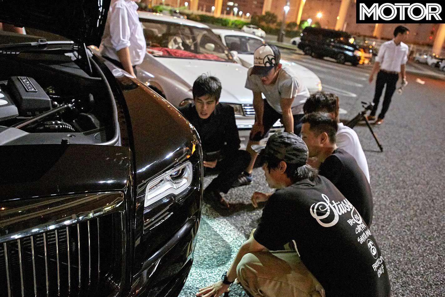 Finding Japan Car Culture Rolls Royce Wraith Black Badge Daikoku Parking Area Car Enthusiasts Jpg