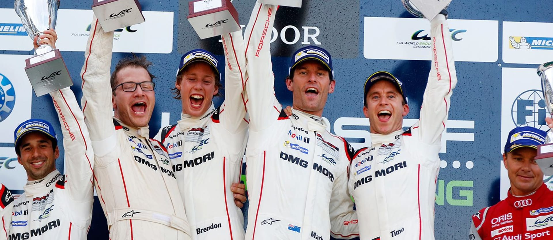 Mark Webber and Porsche win at the Nurburgring