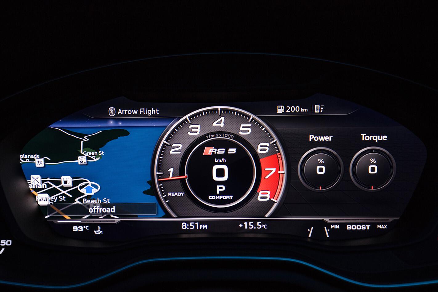2018 Audi Rs 5 Green Interior Instruments Jpg