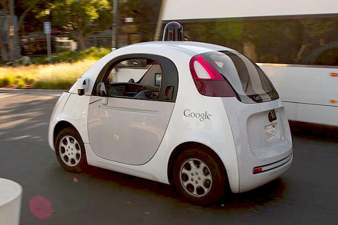 Google car driving side rear