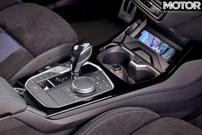 2019 BMW M135i xDrive gearshifter