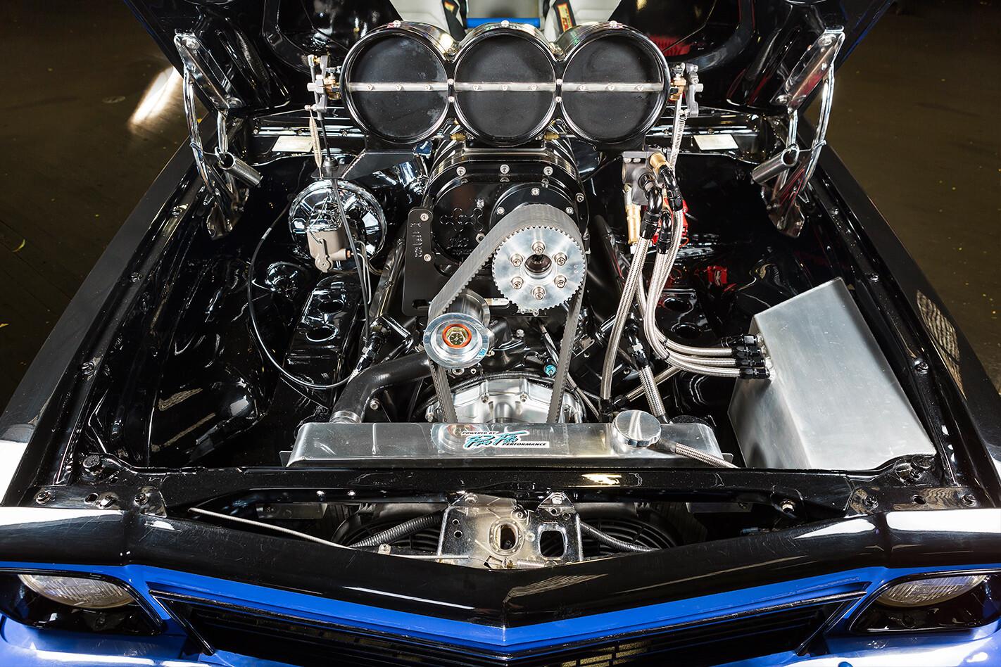 Blown Holden LX Torana engine bay