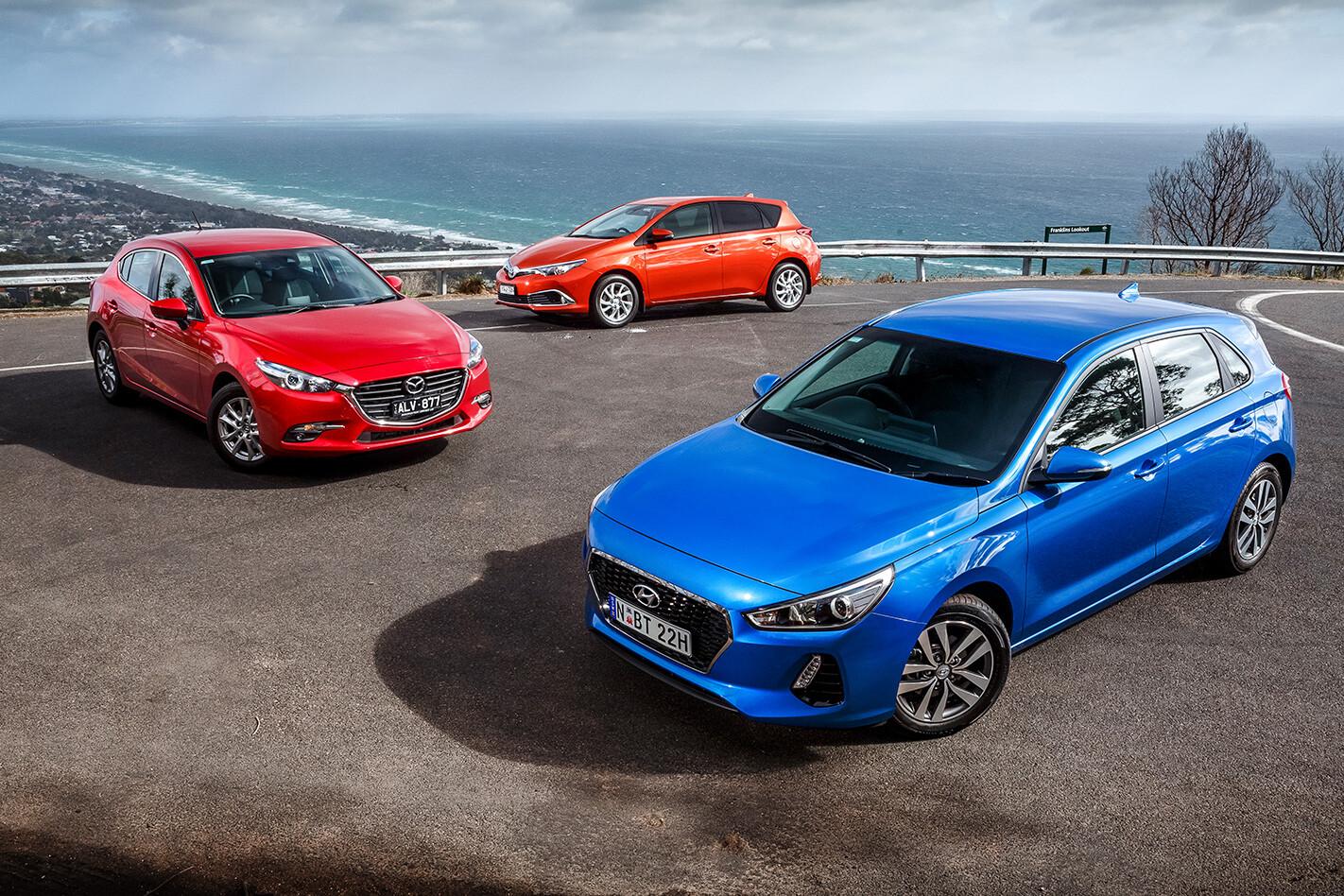 Mazda 3 V Toyota Corolla V Hyundai I 30 VERDICT Jpg