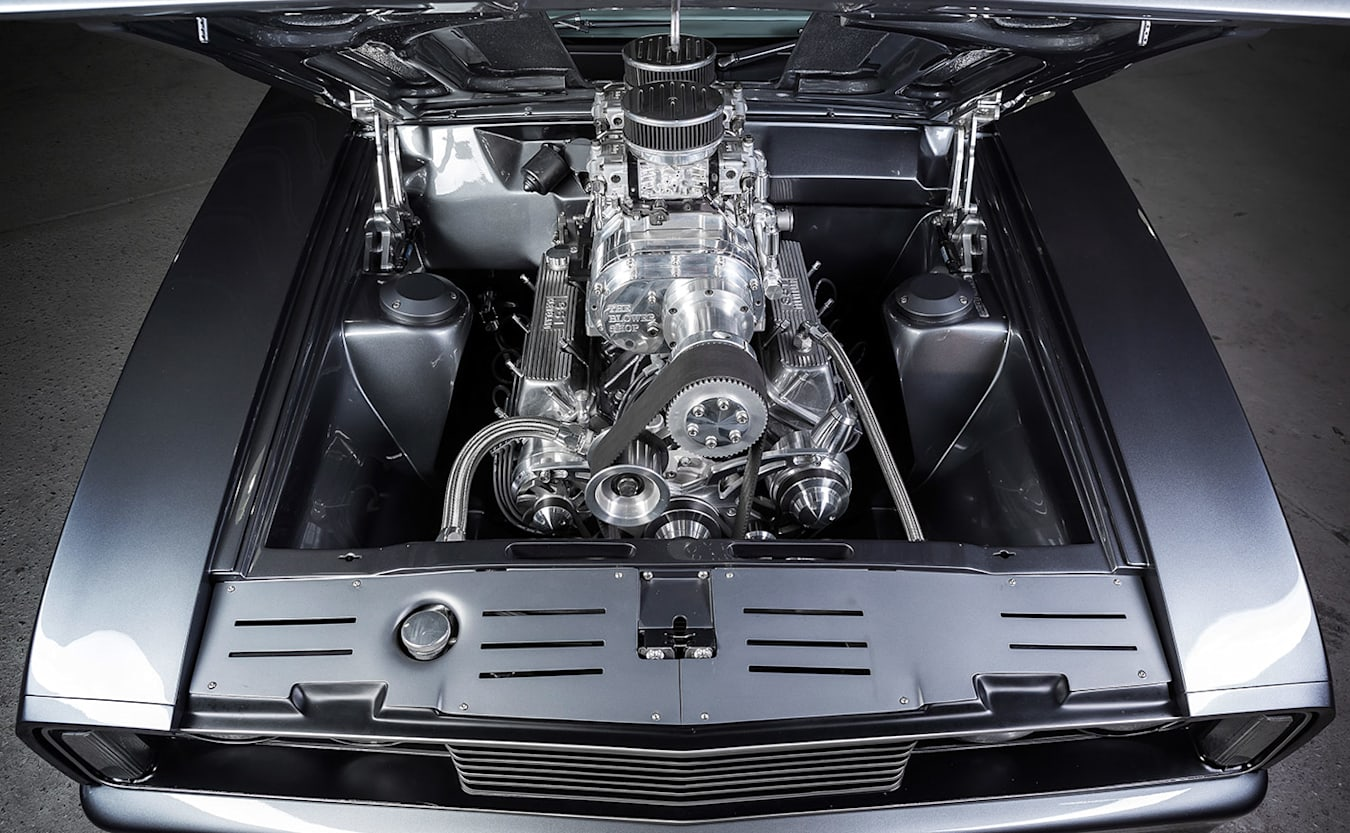 Ford Falcon XC hardtop engine bay