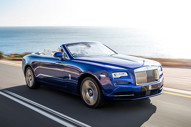 Rolls -Royce -Dawn -converible -front -side