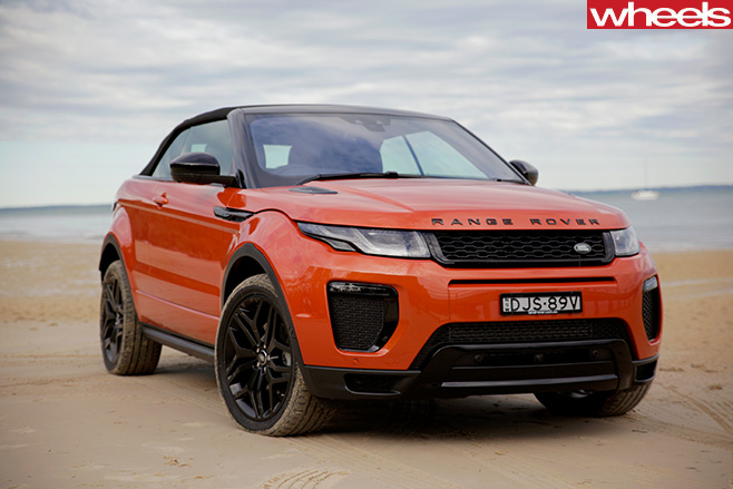Range -Rover -Evoque -convertible -front -side
